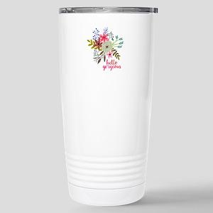 Floral Hello Gorgeous Travel Mug