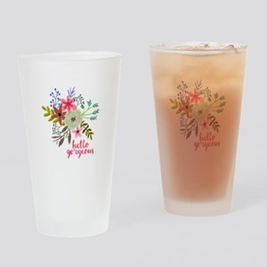 Floral Hello Gorgeous Drinking Glass