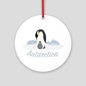 Antarctica Round Ornament