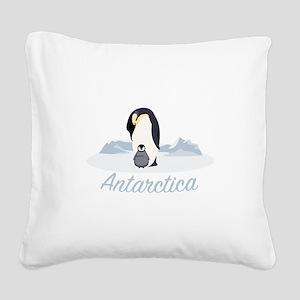 Antarctica Square Canvas Pillow