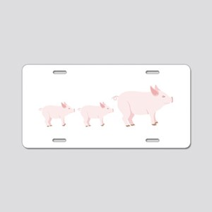 Little Pigs Aluminum License Plate