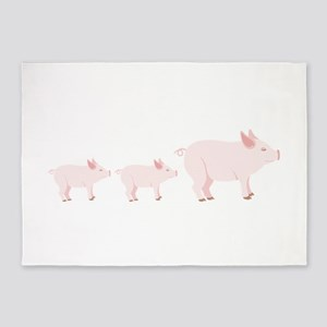 Little Pigs 5'x7'Area Rug