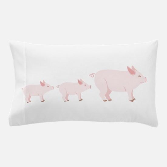Little Pigs Pillow Case