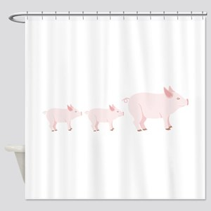 Little Pigs Shower Curtain