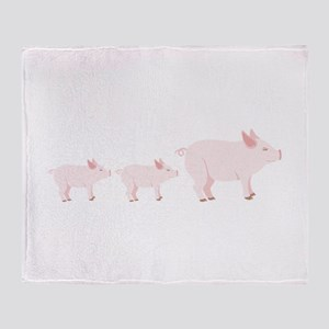 Little Pigs Throw Blanket