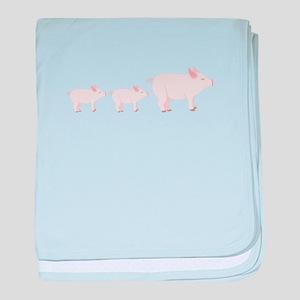 Little Pigs baby blanket