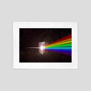 Space Prism Rainbow Spectrum 5'x7'Area Rug