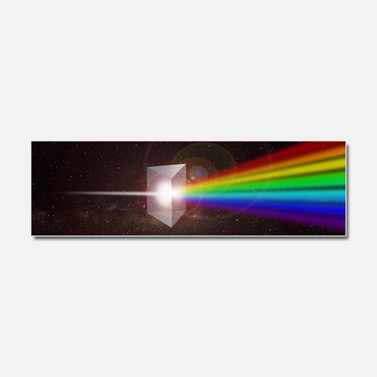 Space Prism Rainbow Spectrum Car Magnet 10 x 3