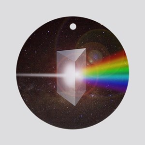 Space Prism Rainbow Spectrum Ornament (Round)