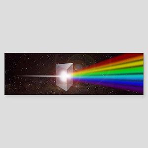 Space Prism Rainbow Spectrum Sticker (Bumper)