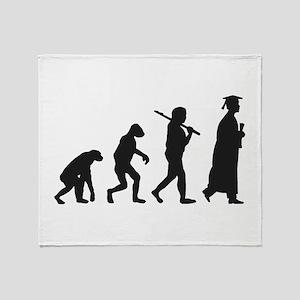 Graduation Evolution Throw Blanket