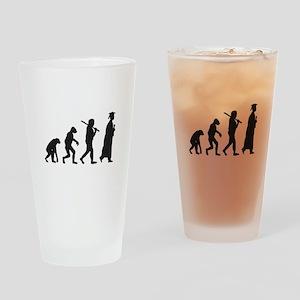 Graduation Evolution Drinking Glass