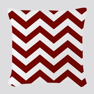 Chevron Zig Zag Pattern: Maroo Woven Throw Pillow