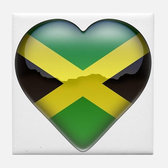 Jamaica Heart Tile Coaster