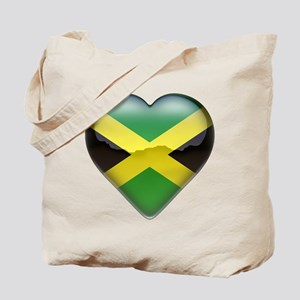 Jamaica Heart Tote Bag