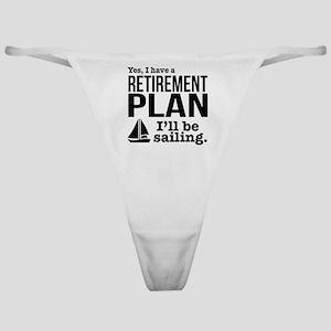 Sailing Retirement Plan Classic Thong