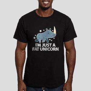 I'm Just A Fat Unicorn Men's Fitted T-Shirt (dark)