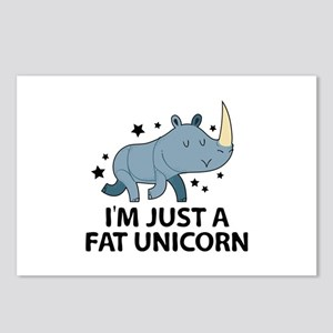 I'm Just A Fat Unicorn Postcards (Package of 8)