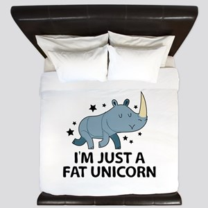 I'm Just A Fat Unicorn King Duvet