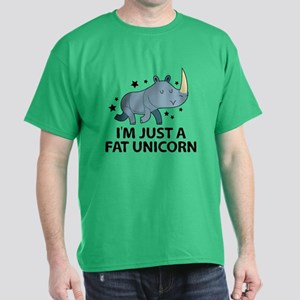 I'm Just A Fat Unicorn Dark T-Shirt