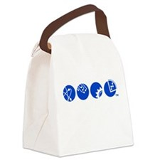 STEM Education Icons Canvas Lunch Bag