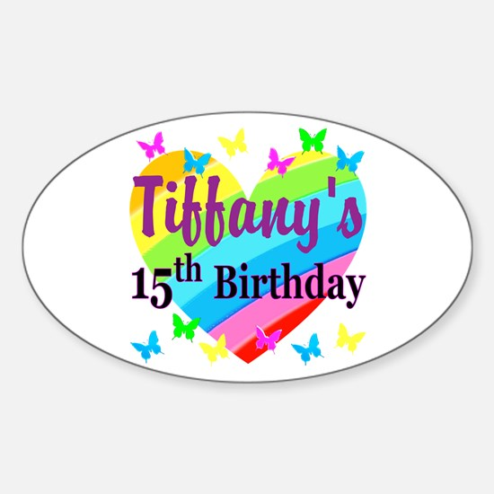 PERSONALIZED 15TH Sticker (Oval)