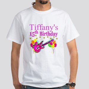 PERSONALIZED 15TH White T-Shirt