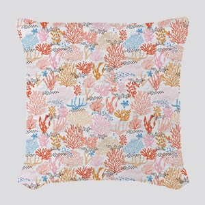 Coral Reef Woven Throw Pillow