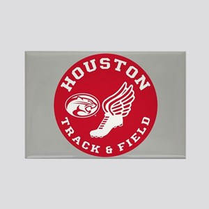 Houston Track & Field Rectangle Magnet