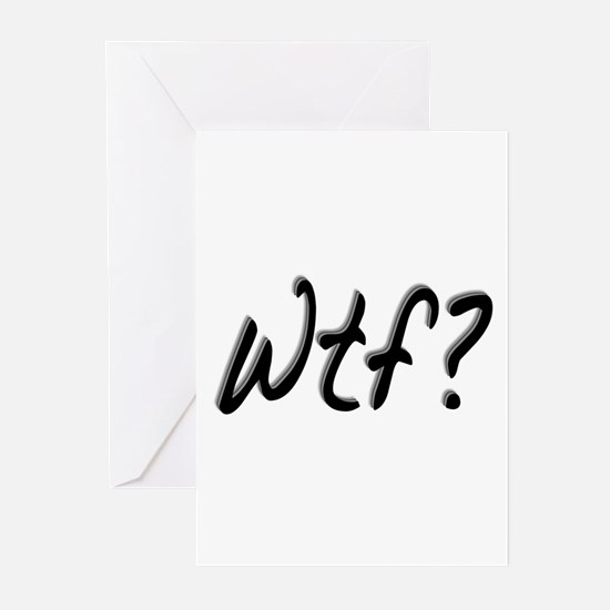 What the Fuck? (WTF) Greeting Cards (Pk of 10)