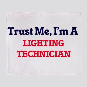 Trust me, I'm a Lighting Technician Throw Blanket