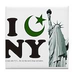 Statue of Liberty - Eid Ramadan Islam Tile Coaster