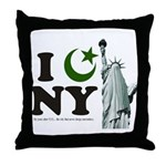 Statue of Liberty - Eid Ramadan Islam Throw Pillow