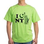 Statue of Liberty - Eid Ramadan Islam Green T-Shir