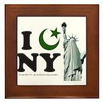 Statue of Liberty - Eid Ramadan Islam Framed Tile
