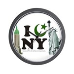 New York City under Islam Wall Clock