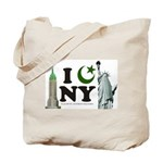 New York City under Islam Tote Bag