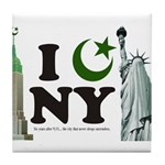 New York City under Islam Tile Coaster