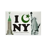 New York City under Islam Rectangle Magnet