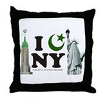 New York City under Islam Throw Pillow