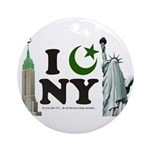 New York City under Islam Ornament (Round)