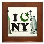 New York City under Islam Framed Tile