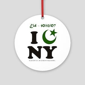 Eid - New York City Ornament (Round)