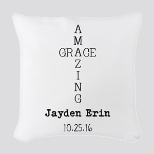 Amazing Grace Cross Custom Personalized Woven Thro