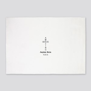 Amazing Grace Cross Custom Personalized 5'x7'Area