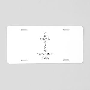 Amazing Grace Cross Custom Personalized Aluminum L
