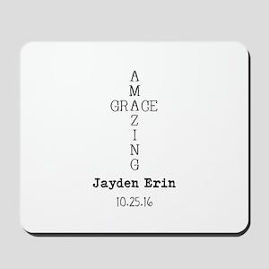 Amazing Grace Cross Custom Personalized Mousepad