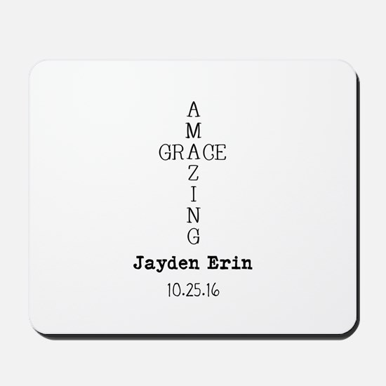 Amazing Grace Cross Custom Personalized Mousepad