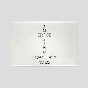 Amazing Grace Cross Custom Personalized Magnets