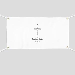 Amazing Grace Cross Custom Personalized Banner